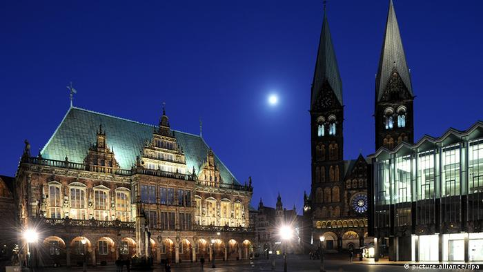 Bremen's town hall, pictured here, and the Roland statue in front of it were added to the UNESCO World Heritage list in 2004.