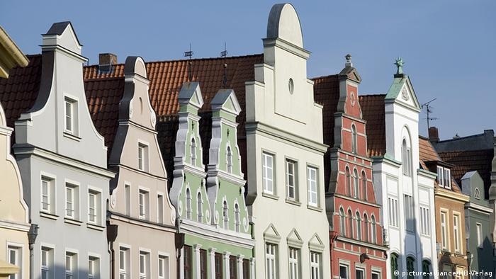 Old house gables in Wismar