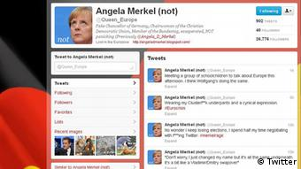 Fake Angela Merkel Twitter Account Back Online Science In Depth Reporting On Science And Technology Dw 14 05 2012