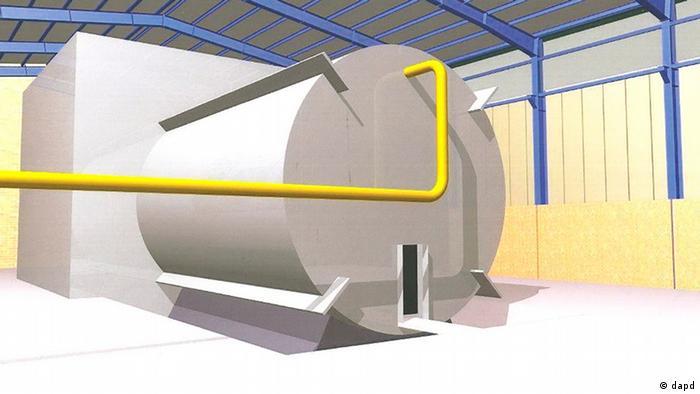 این طراحی که گفته میشود از ایران به بیرون درز پیدا کرده، اتاقکی در مجتمع نظامی پارچین را نشنان میدهد که در آن آزمایش انفجار هستهای صورت گرفته است. کارشناسان معتقدند از میان بردن کامل آثار رادیواکتیو چنین انفجاری تقریبا امکانناپذیر است.