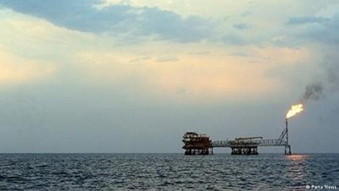 Bohrinseln im kaspischen Meer