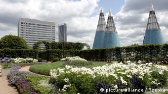 Περίτεχνος κήπος για περίπατο στη στέγη του Ομοσπονδιακού Μουσείου Σύγχρονης Τέχνης στη Βόννη