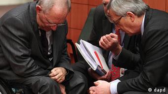 Eurogruppe Sitzung Eurogruppensitzung Paris Frankreich Schäuble Juncker