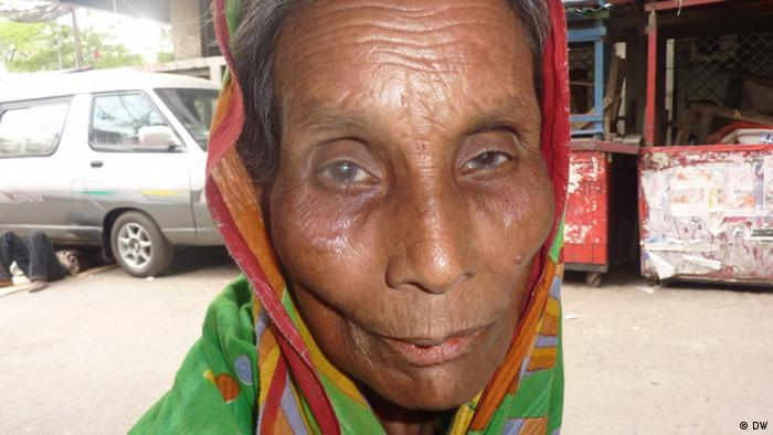 Amina Begum, 50, mother of four children, lives in Dhaka