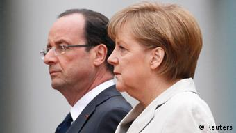 German Chancellor Angela Merkel and French President Francois Hollande