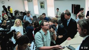 На пресс-конференции