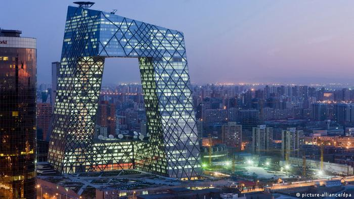 China Peking Sendezentrum Staatsfernsehen CCTV (picture-alliance/dpa)