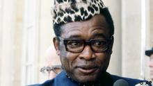 President Mobutu Sese Seko of Zaire, leaves the Elysee Palace, Paris, Sept. 6, 1979, after a visit to President Valery Giscard D'estaing of France. (ddp images/AP Photo)