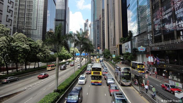 ترافیک روزمره در هنگکنگ