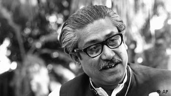 Sheik Mujibur Rahman, President of the Awami League, is shown during a news conference at his residence in Dacca, East Pakistan, March 13, 1971. In 1972, Sheik Mujib, as he was popularly known, became Bangladesh's first prime minister. In 1975, he was overthrown in a coup d'etat and assassinated. (ddp images/AP Photo).