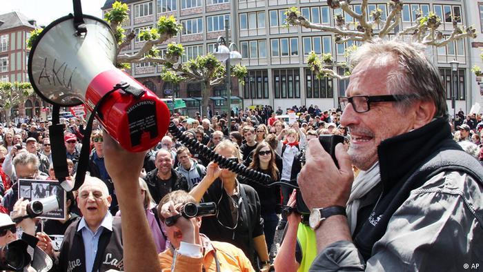 Kundgebung der Blockupy- Bewegung in Frankfurt am Main (Foto: dapd)