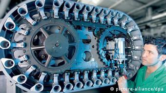 A man building a machine