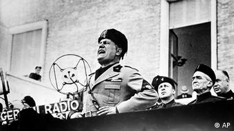 Benito Mussolini, Italian dictator, speaks at the dedication ceremonies of Sabandia, central Italy, on Sept. 24, 1934. (Photo: ddp images/AP Photo).