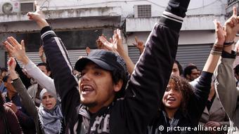 Proteste gegen die Regierung in Tunesien 2012 (Foto: dpa)