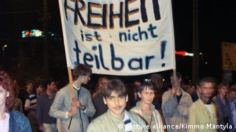 Montagsdemonstrationen Leipzig 1989 (picture alliance/Kimmo Mantyla)