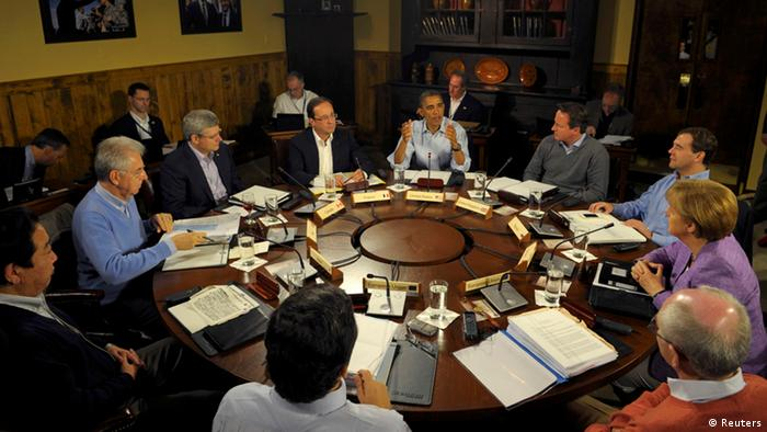 Group of Eight leaders and Sherpas at Camp David Copyright: Reuters