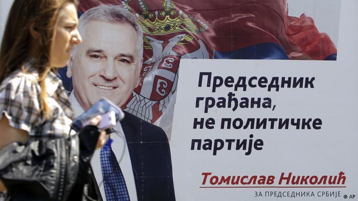 Serbien Wahlen Wahlkampf Kandidat Tomislav Nikolic SNS