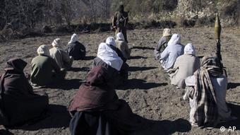 Taliban militants take part in a training session in Pakistan's tribal South Waziristan region