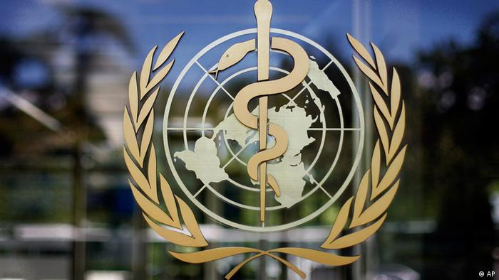 The logo of the World Health Organization is seen at the WHO headquarters in Geneva, Switzerland, Thursday, June 11, 2009. The World Health Organization held an emergency swine flu meeting Thursday and was likely to declare the first flu pandemic in 41 years as infections climbed in the United States, Europe, Australia, South America and elsewhere. (ddp images/AP Photo/Anja Niedringhaus)