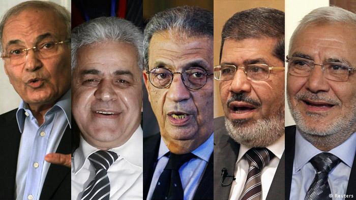 Die fünf aussichtsreichsten Kandidaten der Präsidentschaftswahlen in Ägypten
