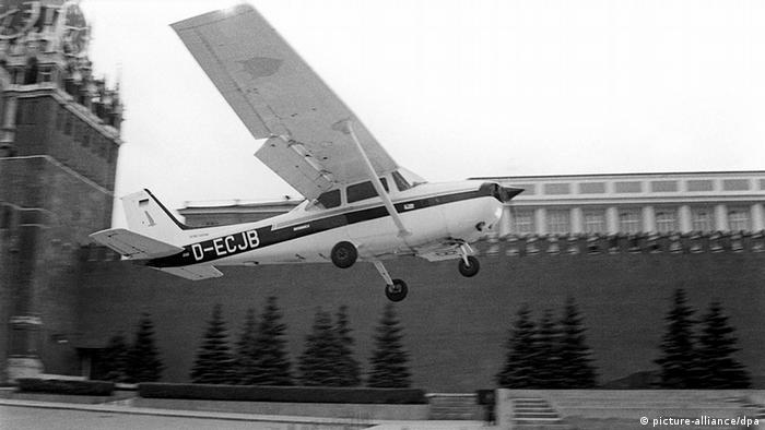 Matthias Rust landing in Moscow (picture-alliance/dpa)