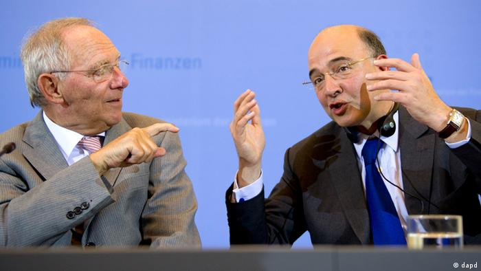 Wolfgang Schäuble et Pierre Moscovici