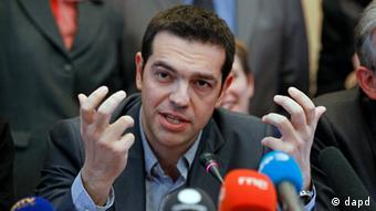 Greece's Left Coalition party leader Alexis Tsipras