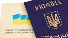 Symbolbild Ukrainischer Pass
