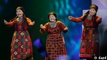 Russia's Buranovskiye Babushki perform during the 1st semifinal 2012 Eurovision Song Contest at the Baku Crystal Hall in Baku, Tuesday, May 22, 2012. The finals of the 2012 Eurovision Song Contest will be held at the stadium on May 26, 2012. (Foto:Sergey Ponomarev/AP/dapd)