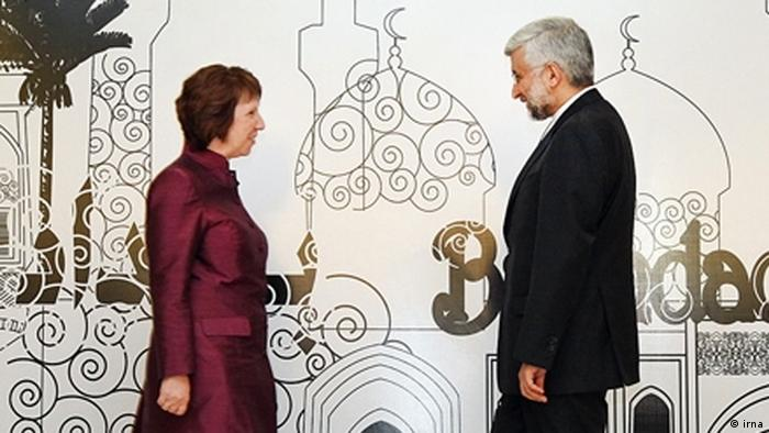 Zweite Runde der Verhandlungen über den Atomkonflikt mit Iran am 23.05.2012 in Baghdad zwischen Vertreter der 5+1-Gruppe und der Islamischen Republik Iran Quelle: Irna