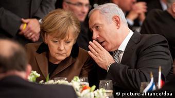 Премьер-министр Израиля Биньямин Нетаньяху и канцлер Германии Ангела Меркель