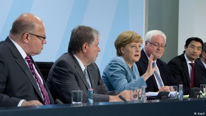 Angela Merkel with state premiers