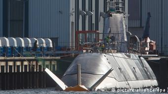 U-Boot in der Werft Photo: picture-alliance/dpa