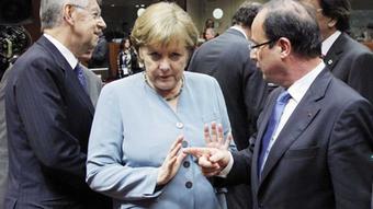 Merkel und Hollande beim EU-Gipfel am 23.05.2012