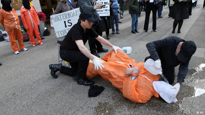 Waterboarding Protest (AP)