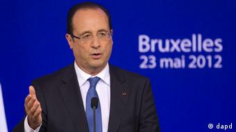 Belgien EU Finanzkrise EU-Sondergipfel Francois Hollande