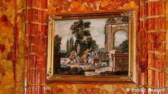 A detail from the rebuilt Amber Room