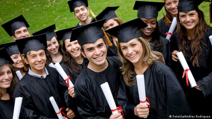 A group of US graduation students
