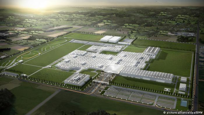 Aerial view of BMW's new plant in Tiexi, Shenyang (China)