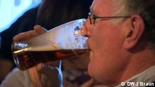 Man drinking stout