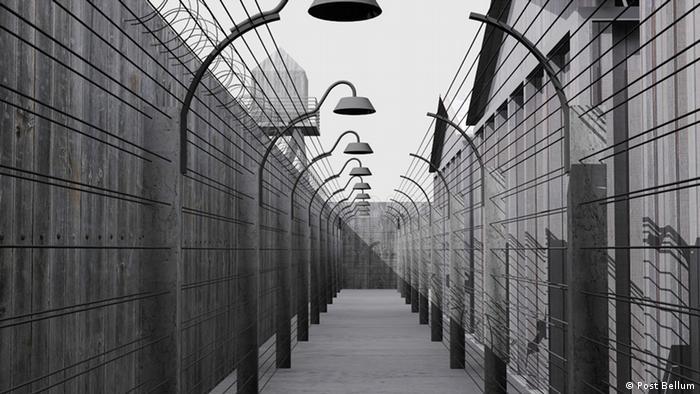 Virtuelle Simulation eines KZ, der in Prag zur Erinnerung an den Heydrich Attentat errichtet wird. Post Bellum: Assasination of Heydrich 70. Authors of the visualisation - virtual simulation are Josef Mádr and Martin Král Copyright: Post Bellum Zulieferer: GABRIEL L. BORRUD