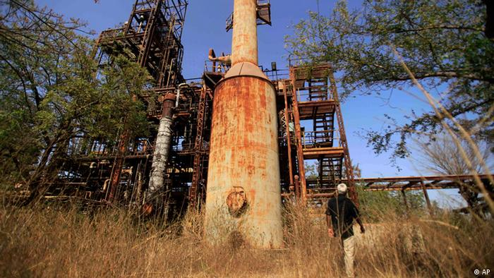 The abandoned Union Carbide plant in Bhopal, India.