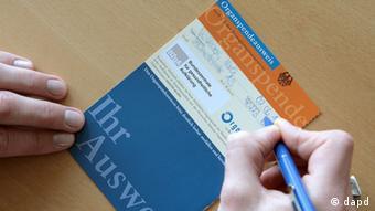 Кожного німця попросять заповнити формуляр-посвідчення про згоду чи незгоду на донорство