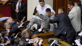 Драка депутатов Рады при принятии закона о региональных языках 24 мая 2012 года