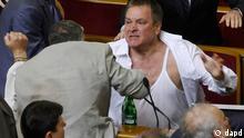 Ukraine Parlament Parlamentsdebatte in Kiew Mykola Petruk