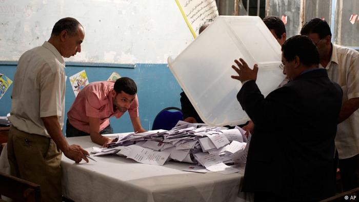 Election officials count votes in Egypt