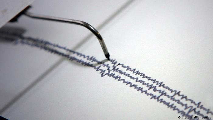 Symbolbild Erdbeben Seismograph