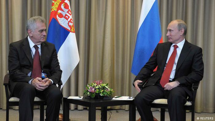 Vladimir Putin und Tomislav Nikolic in Moskau