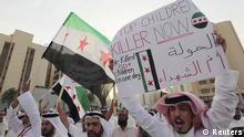 Manama Bahrain Proteste gegen Massaker in Syrien