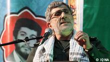 General Pasdar Esmail Ghaani , Stellvertretender Kommandeur der Ghods Armee, Spezial-Armee der Revolutionswächter Iran ( Sepah Pasdaran ) für militärische und paramilitärische Auslands-Operationen Quelle: Agentur IQNA